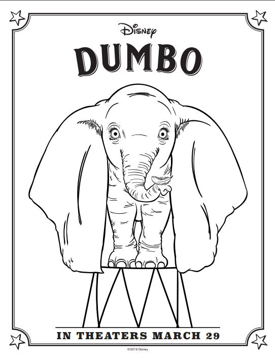 Free printable activities for download for Dumbo flying into theaters March 29th 2019 #DisneyPartner #Dumbo