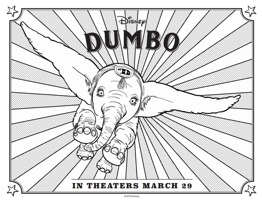 Free printable activities fro download for Dumbo flying into theaters March 29th 2019 #DisneyPartner #Dumbo