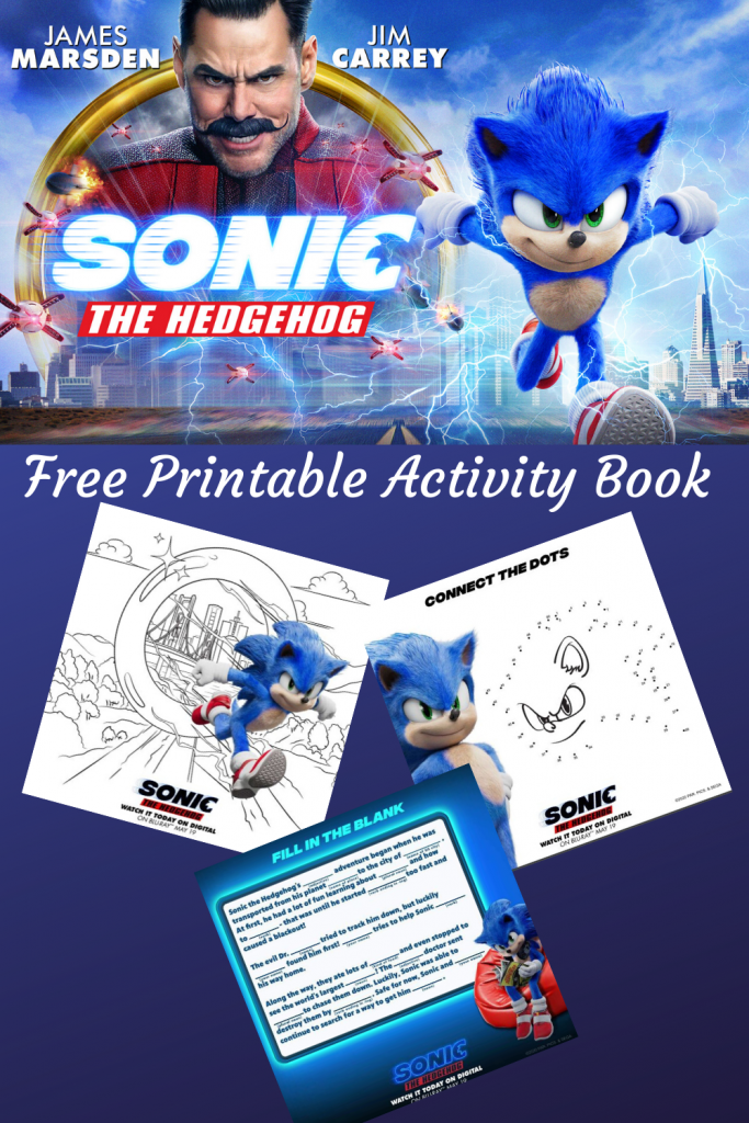 Free Fun Sonic The Hedgehog Printable Activities!! #SonicTheHedgehog #Free #FunPrintable